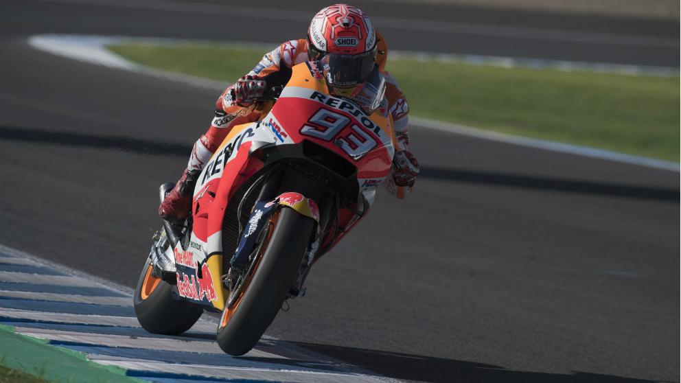 Marc Márquez se llevó la victoria en Jerez.   GP de España de MotoGP   Marc Márquez