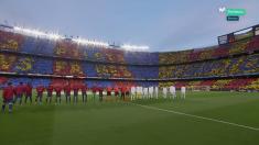 Así lució el Camp Nou antes del Clásico.