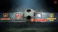 Comprobar los resultados de los sorteos de La Quiniela, El Quinigol, Lototurf y Quíntuple Plus de hoy.