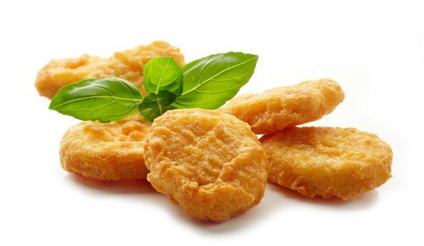 nuggets de pollo y espinaca