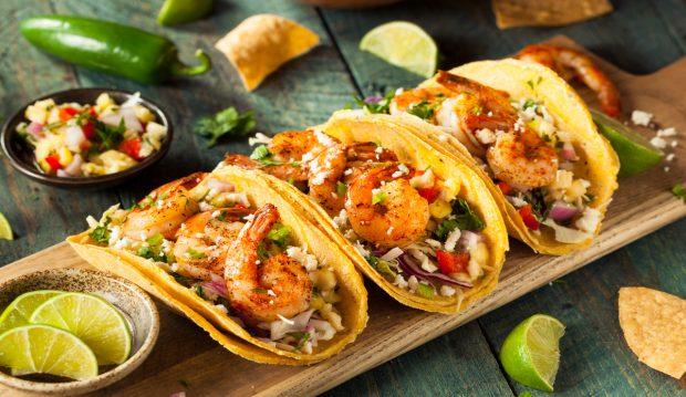 tacos de langostinos