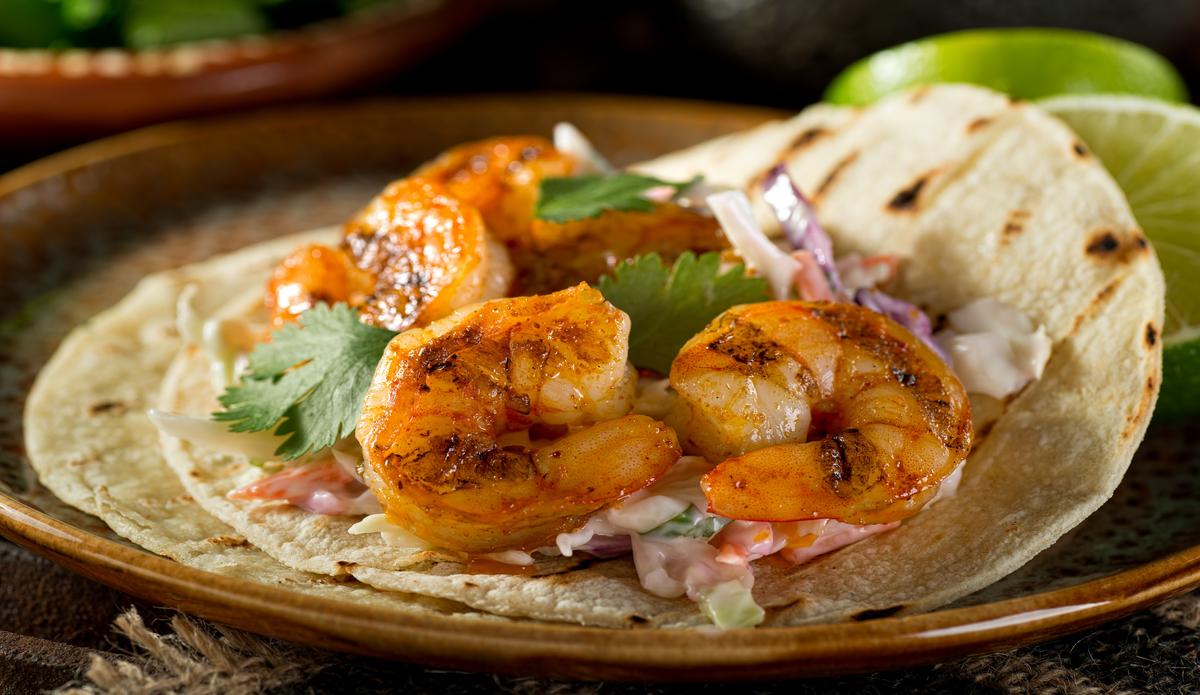 Receta de Tacos de langostinos fáciles de preparar