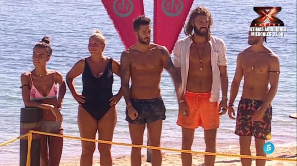 El equipo de Cabeza de León en 'Supervivientes'.