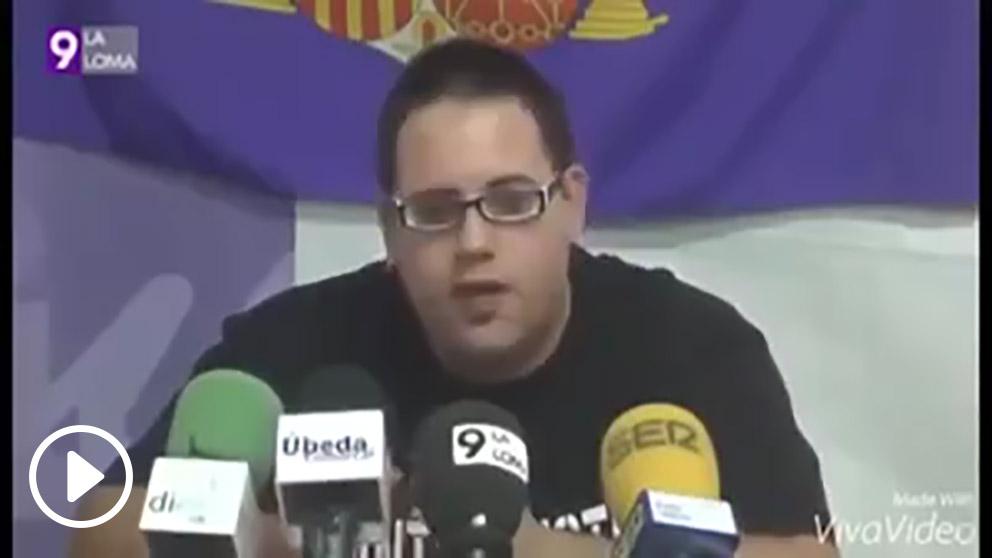 El líder de las Juventudes Comunistas de Úbeda, Luis Fernández.