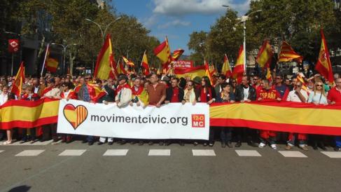 """Movimiento Cívico 12-O crea un registro de """"damnificados"""" por el independentismo (RRSS)."""