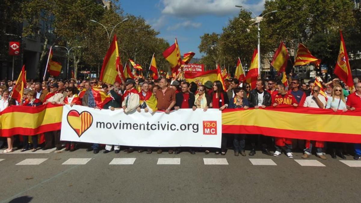 Movimiento Cívico 12-O crea un registro de «damnificados» por el independentismo (RRSS).