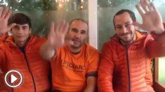 Manuel Blanco, Julio Latorre y Enrique Rodríguez, los bomberos sevillanos detenidos en Lesbos.