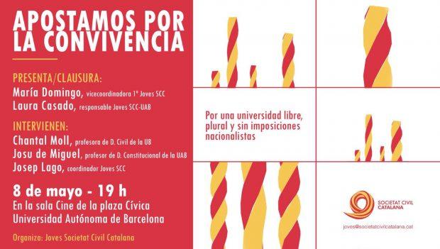 Encapuchados de la kale borroka en la Universidad de Barcelona atacan a jóvenes de SCC