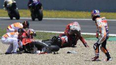 El accidente sufrido por Dani Pedrosa, Jorge Lorenzo y Andrea Dovizioso ha levantado una polémica que Dirección de Carrera ha zanjado considerándolo un incidente fortuito.