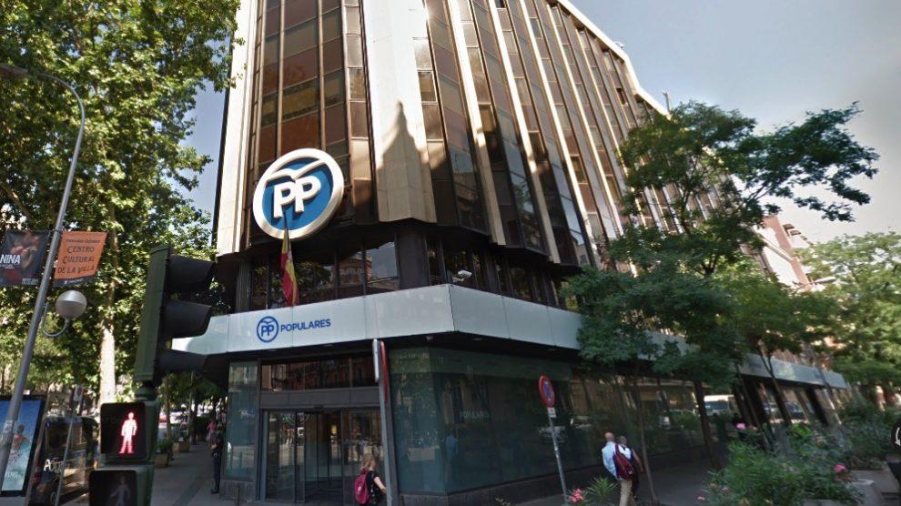 Sede del PP en calle Génova 13. (Foto. GM)
