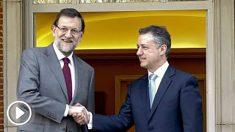 Íñigo Urkullu y Mariano Rajoy en La Moncloa.
