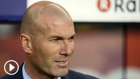 Zidane durante el Barcelona – Real Madrid. (AFP)