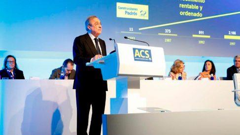 Florentino Pérez, presiente de ACS