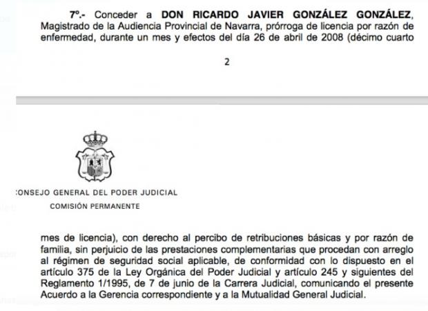 """El TSJN pidió que se jubilase por """"incapacidad permanente"""" al juez """"singular"""" de 'La Manada'"""