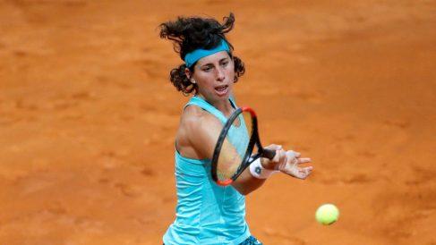 Carla Suárez, en el partido frente a Svitolina. (EFE)