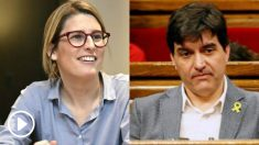 La portavoz de JxCat, Elsa Artadi, y el de ERC, Sergi Sabrià.