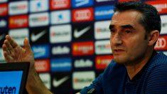 Ernesto Valverde en sala de prensa. (EFE)