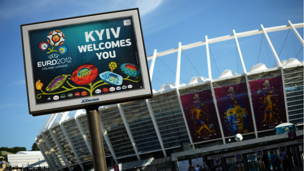 Imagen del estadio de la final durante la Eurocopa de 2012. (AFP)