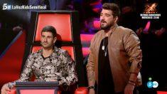 Antonio Orozco y su problema con las lentillas en 'La Voz Kids'
