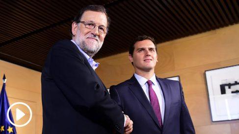 Mariano Rajoy y Albert Rivera. (Foto: AFP)
