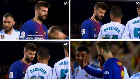 Piqué provocó a Casemiro en el Barcelona-Real Madrid del Camp Nou. (imagen: El Día Después)