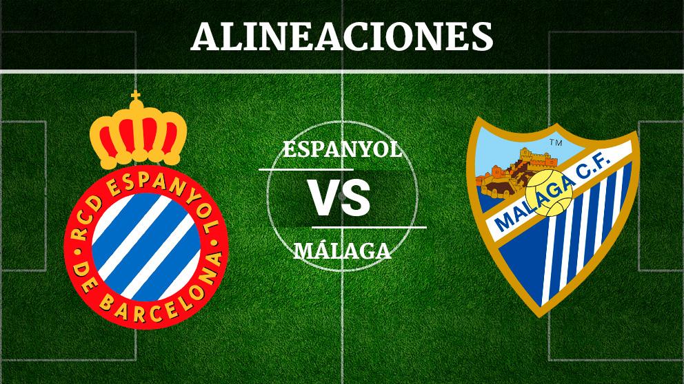 Consulta las posibles alineaciones del Espanyol vs Málaga.
