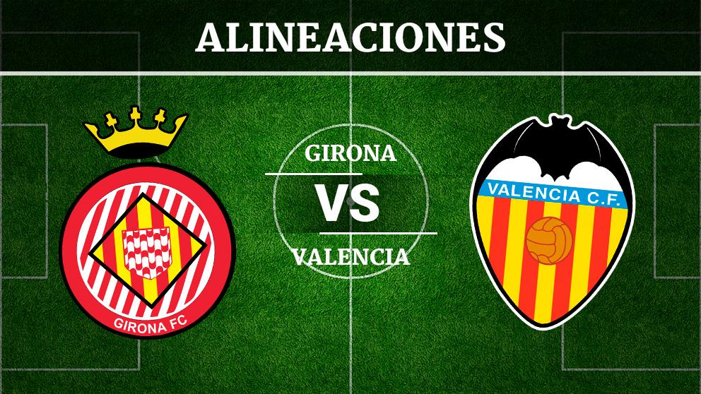 Consulta las posibles alineaciones del Girona – Valencia.