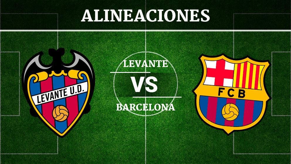 Consulta las posibles alineaciones del Levante vs Barcelona.