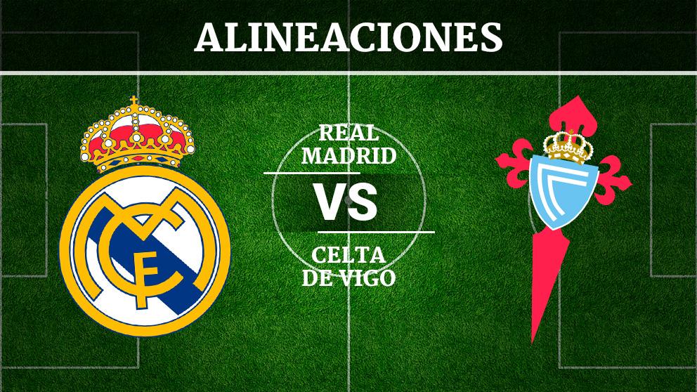 Consulta las posibles alineaciones del Real Madrid – Celta de Vigo.