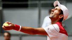Djokovic, en su partido ante Edmund. (EFE)