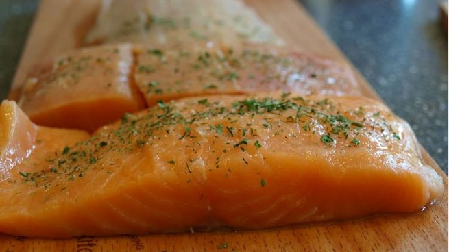 El consumo de salmón