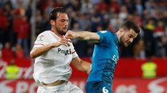 Nacho durante el encuentro contra el Sevilla. (realmadrid.com)