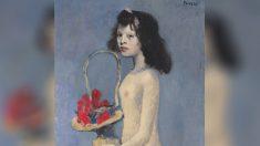 'La fillette à la corbeille fleurie', de Pablo Picasso (1905).