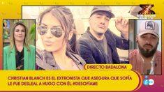 Cristian Blanch en 'Sálvame' hablando sobre Sofía y Hugo