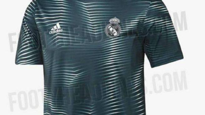 c5fe091b88478 Se filtra la camiseta de calentamiento del Real Madrid 2018-19