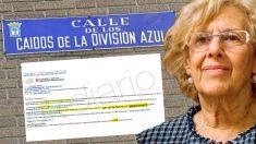 La alcaldesa de Madrid, Manuela Carmena , y la carta sobre el cambio de nombre de las calles 'franquistas'