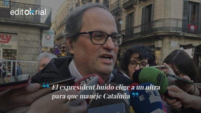 Puigdemont intenta apagar el fuego con la gasolina de Torra
