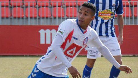 Jeisson Martínez, durante un partido con el Rayo Majadahonda esta temporada. (Rayo Majadahonda)