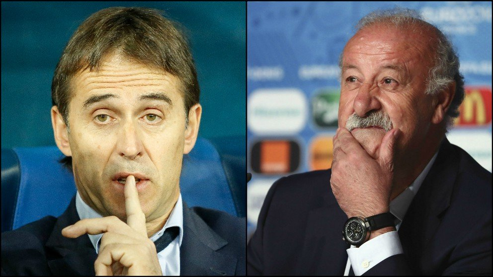 Julen Lopetegui y Vicente del Bosque. (Fotos: Getty)