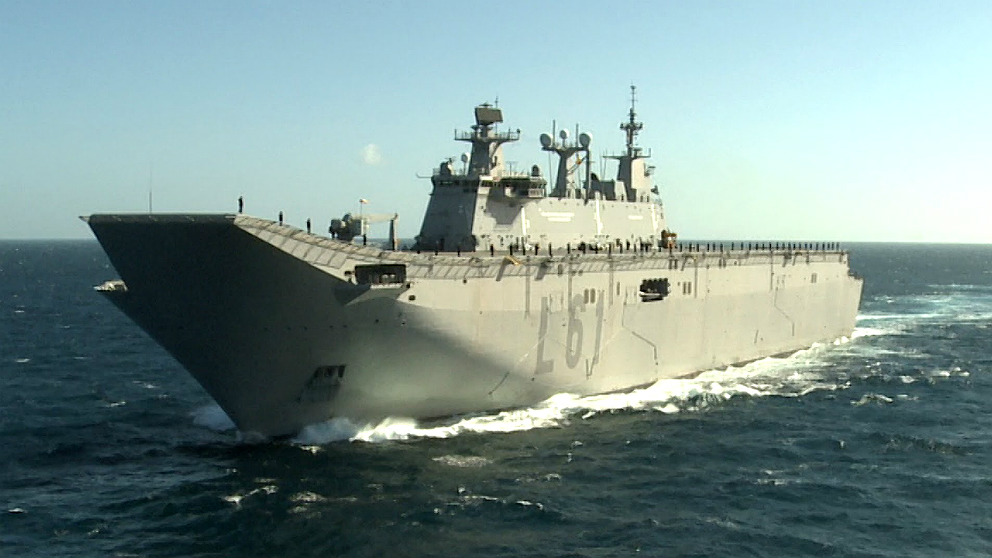 Portaaviones 'Juan Carlos I', buque insignia de la Armada.