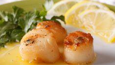 Receta de vieiras a la plancha con soja y limón, deliciosas