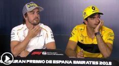 Fernando Alonso y Carlos Sainz en rueda de prensa