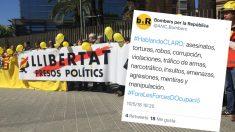 Los bomberos separatistas y su tuit acusando de graves delitos a Policía Nacional y Guardia Civil