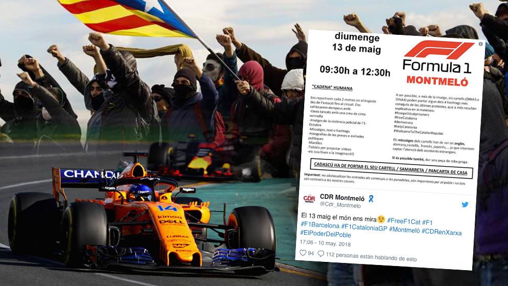 Los CDR llaman a sabotear el GP de España de F1 en Montmeló