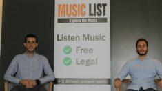 Jordi Pallarés y Eduardo Beguer, socios de MusicList (Fuente: MusicList)