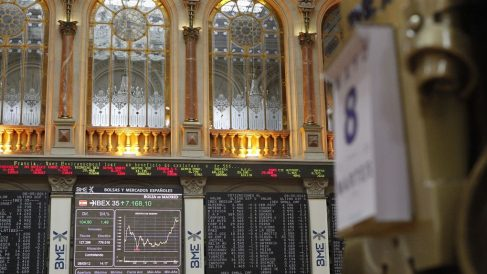 Interior de la Bolsa de Madrid (Foto. Pinterest)