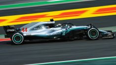 Lewis Hamilton con el Mercedes W09 (Getty)