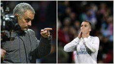 Mourinho y Lucas, durante esta temporada. (Fotos: AFP)