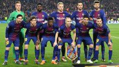 Una alineación del Barcelona esta temporada.