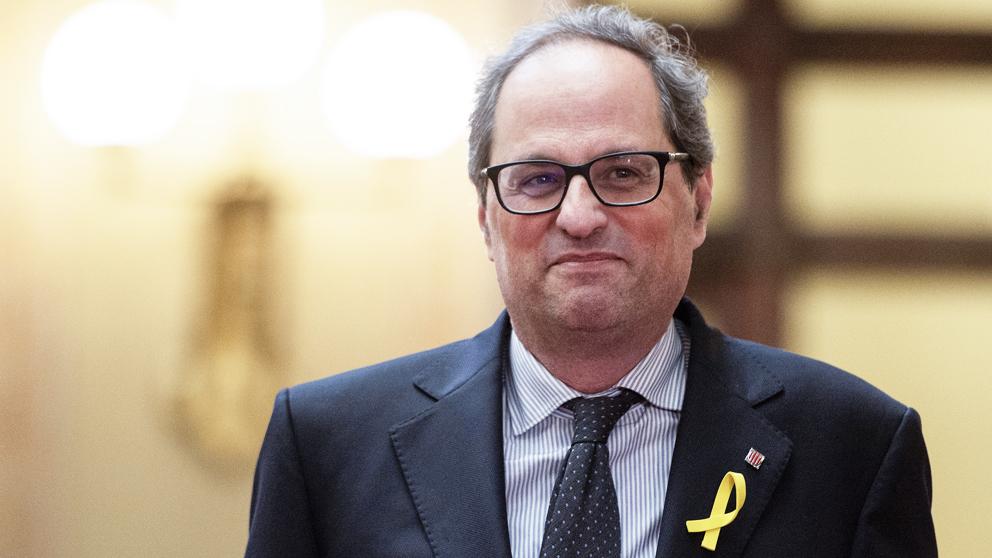 El presidente de la Generalitat de Cataluña, Quim Torra. (Foto: AFP)